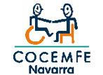 Logo COCEMFE Navarra, Federación de asociaciones de Personas con Discapacidad Física y Orgánica de Navarra.