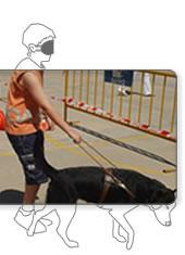 foto dibujo simulacion ceguera