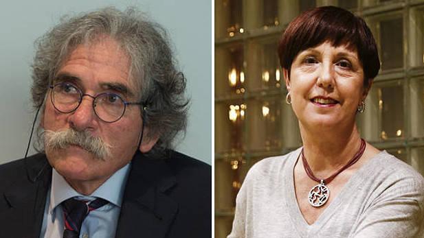Javier Goldáraz, presidente de Anfas, y Arantxa Garatea, gerente de la Fundación Atena. (Diario de Noticias)