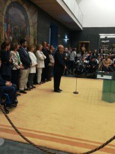 Un momento de la intervención de Luis Antonio Gómara