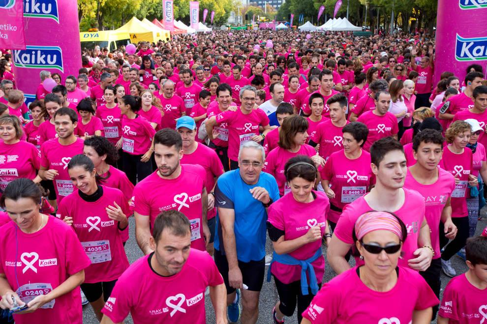 Imagen de la carrera que organiza Saray durante los últimos años. Diario de Navarra.