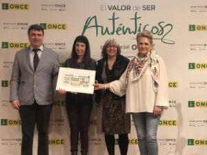 De izquierda a derecha: Valentín Fortún, Mertxe Leranoz, Mariluz Sanz y Pilar Herrero