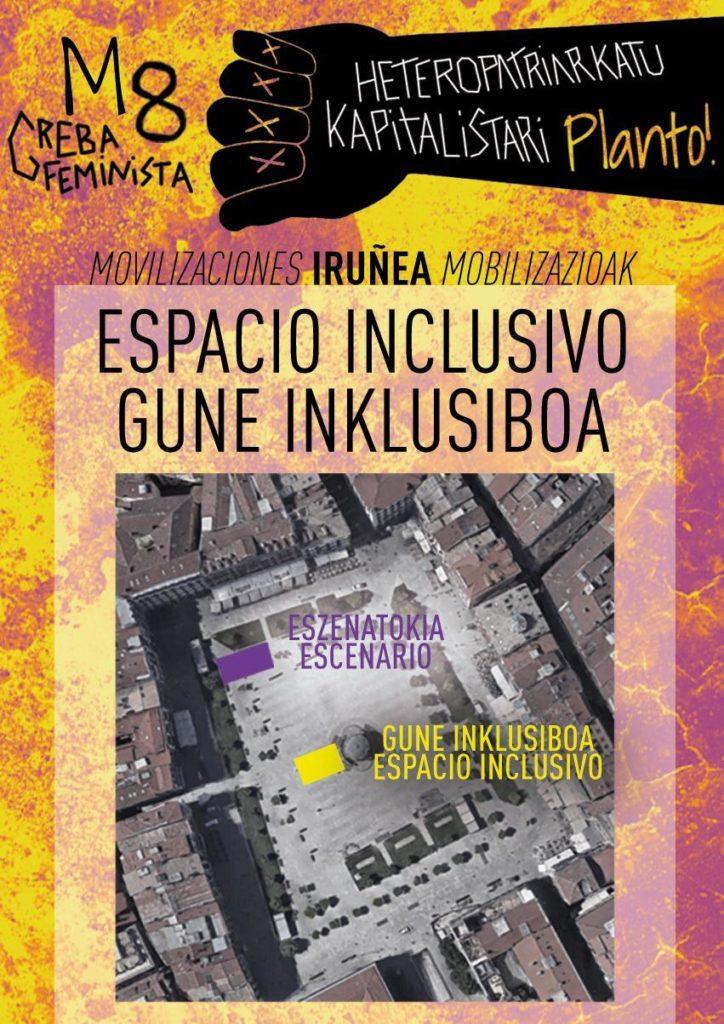 Imagen de la localización del espacio inclusivo y del escenario de la concentración de la mañana