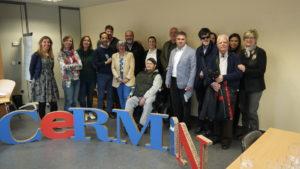 foto de grupo con representantes de entidades socias de CERMIN tras la Asamblea