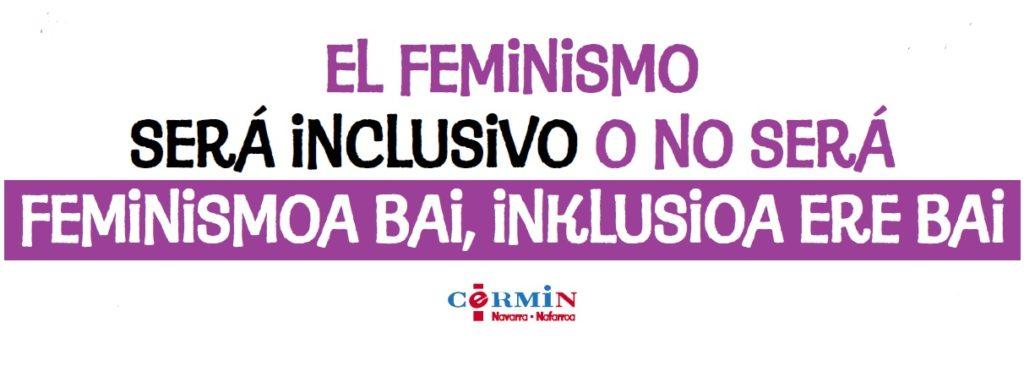 Imagen de la pancarta que se portará en los actos desde CERMIN