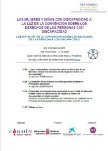 Imagen del programa de la jornada en castellano