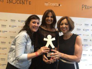 De izquierda a derecha: Arianna Iriarte, Mariló Montero y Amaya Áriz
