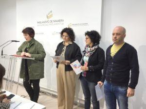 De izqda. a dcha.: Ainhoa Aznárez, Cristina Mondragón, Edurne Jaúregui e Iñaki Ceniceros