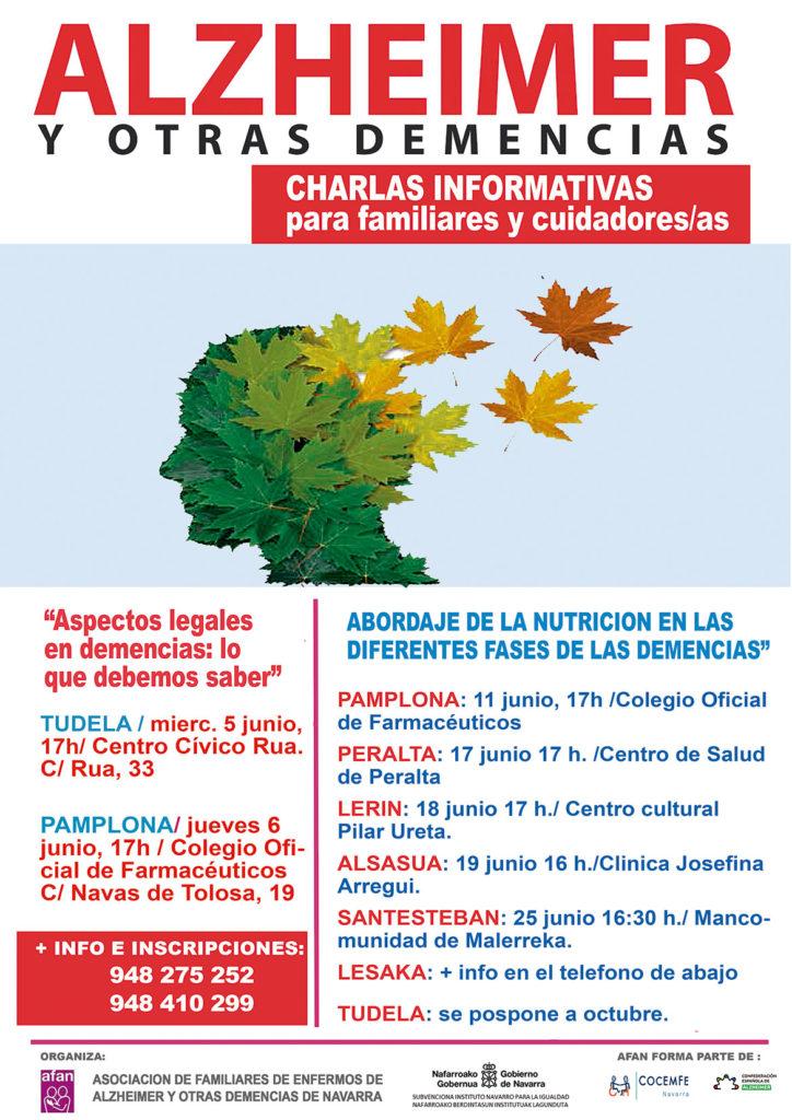 Imagen del cartel con el programa de las charlas