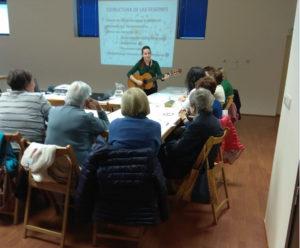Imagen de uno de los talleres de musicoterapia