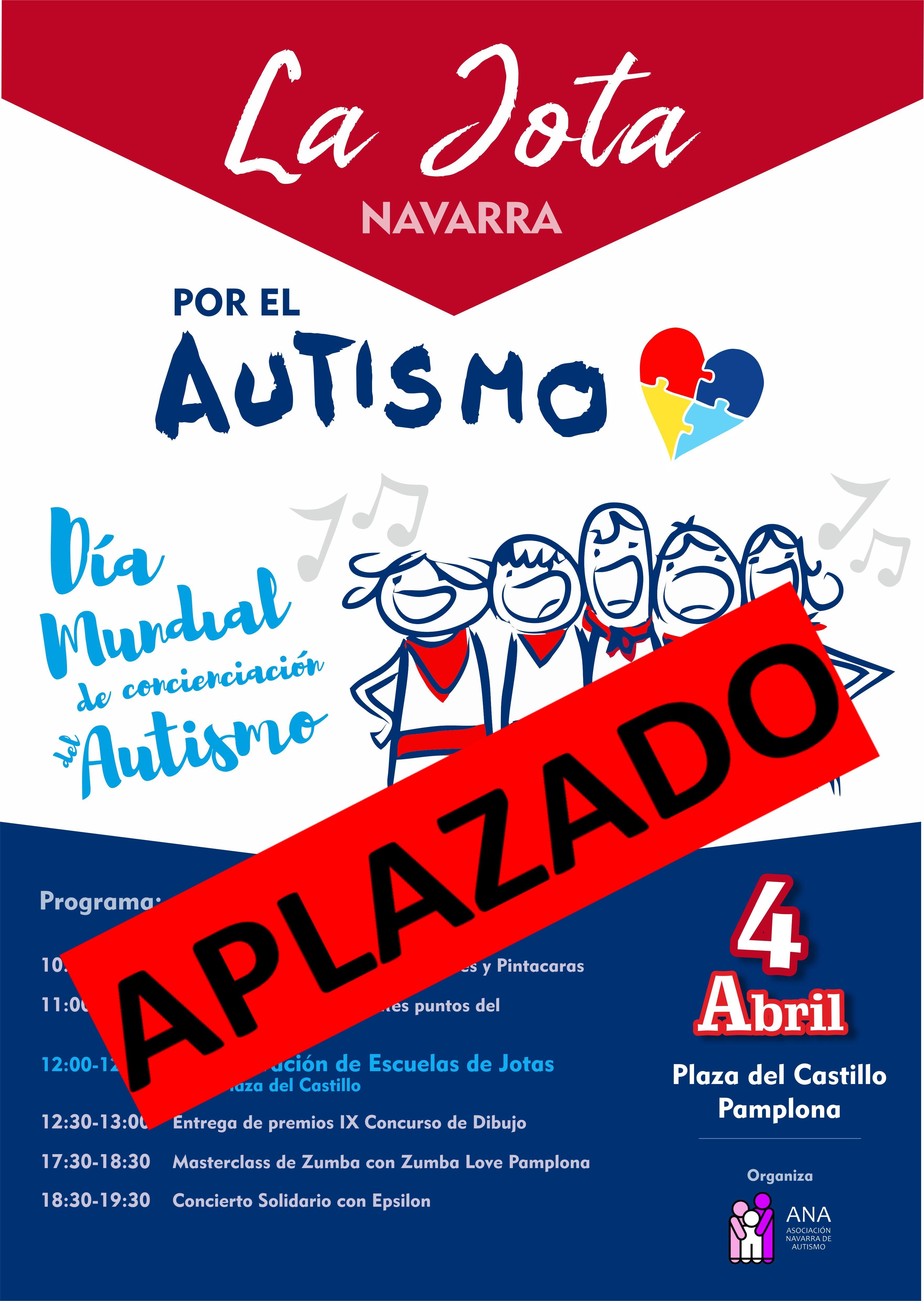 Imagen del cartel del Día Mundial por el Autismo con el aplazamiento
