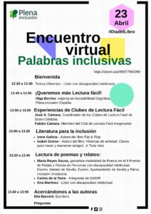 Imagen del cartel del encuentro virtual del día 23 de abril