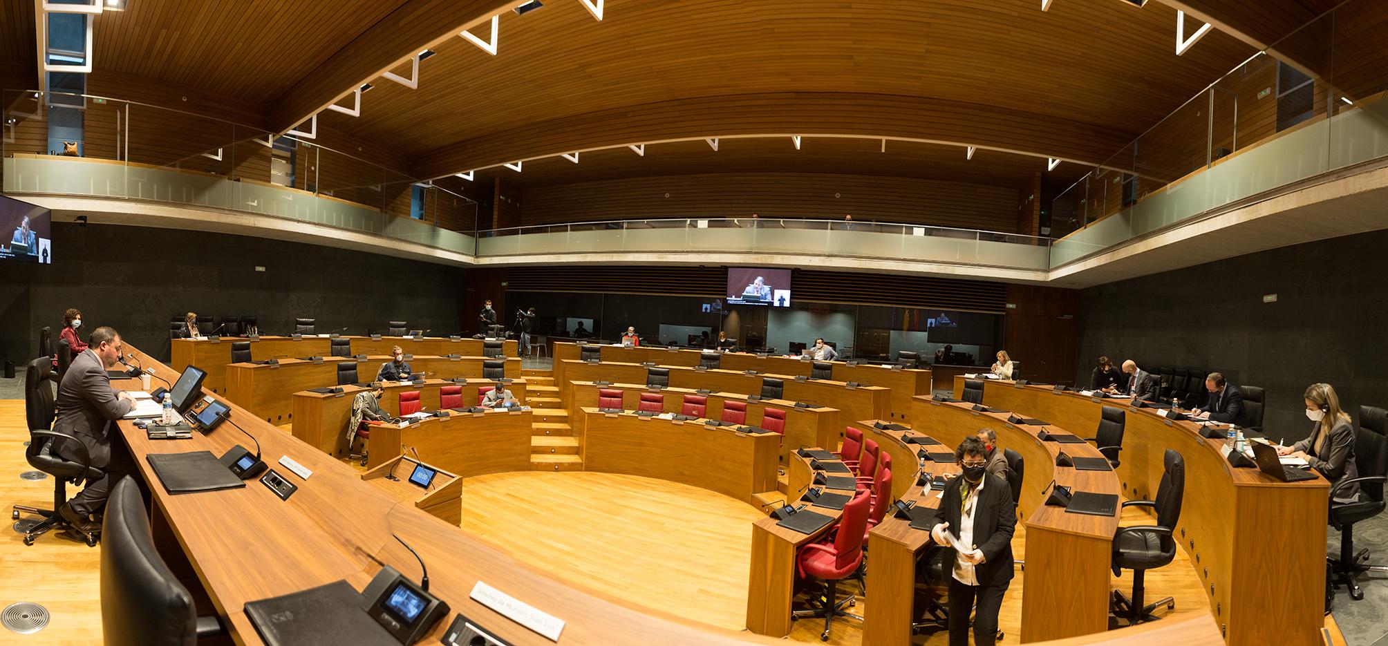 Imagen de un momento de la sesión del Pleno del Parlamento