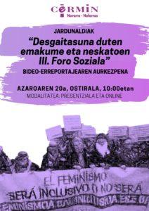 Imagen del cartel de la jornada en euskera