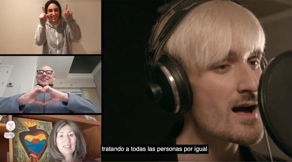 Imagen de un momento del vídeo