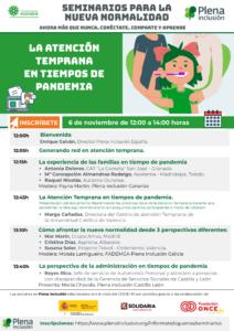Imagen del cartel del seminario donde aparece el programa