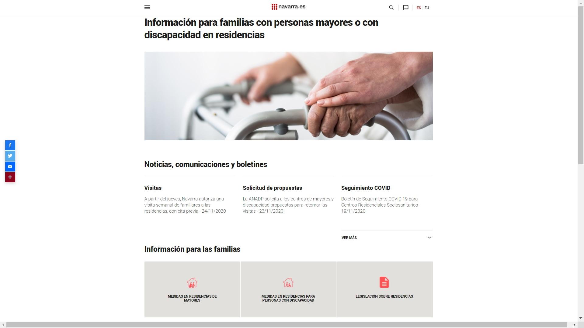 Imagen de la nueva web