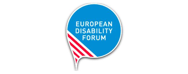 Logo federación europea de discapacidad. Ir a la web