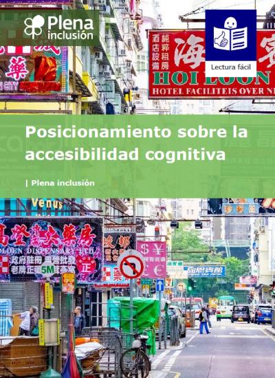 Portada del posicionamiento sobre la accesibilidad cognitiva