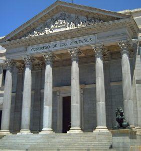 Imagen de la fachada del Congreso de los Diputados