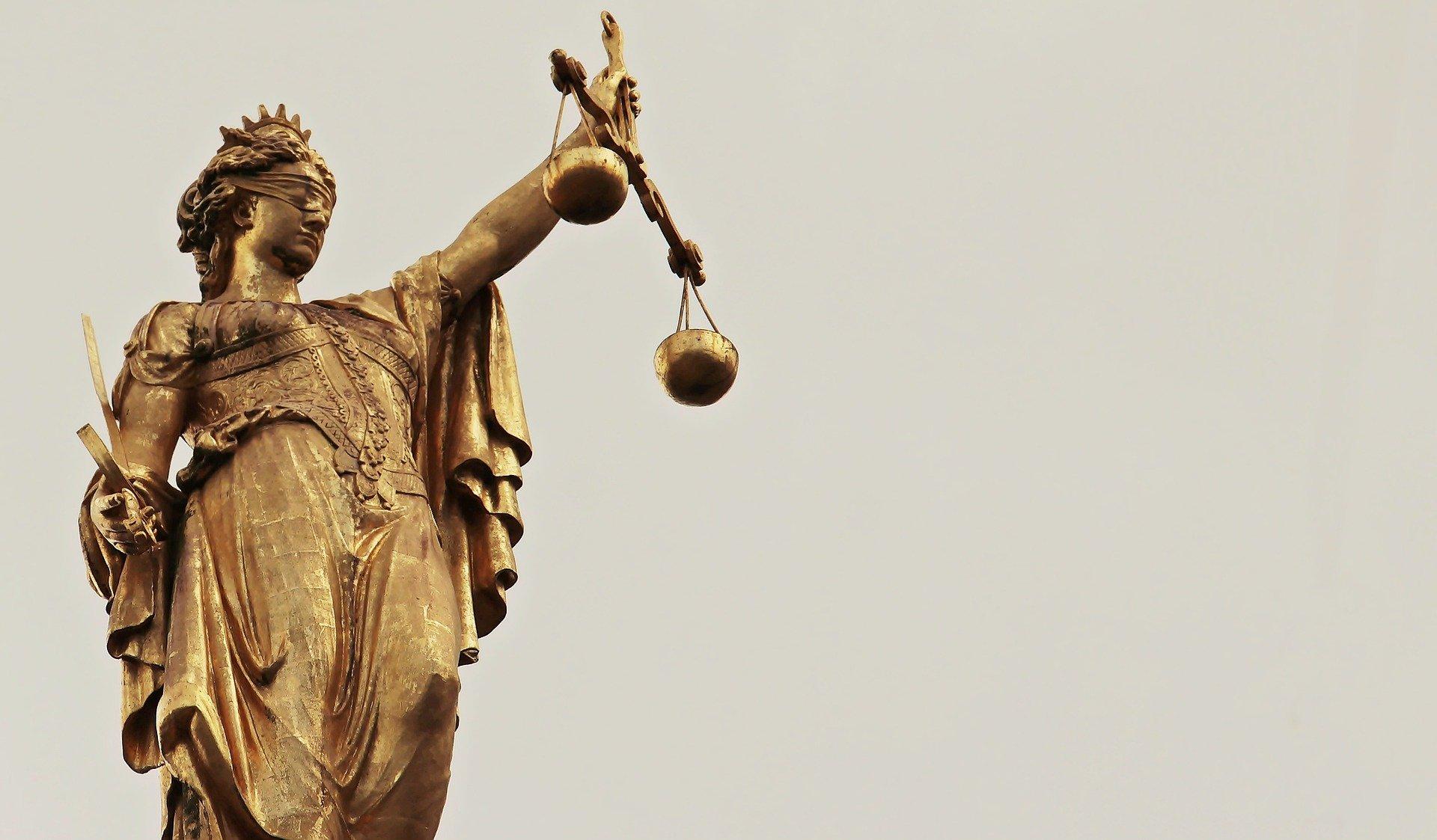 Imagen de la figura de la justicia