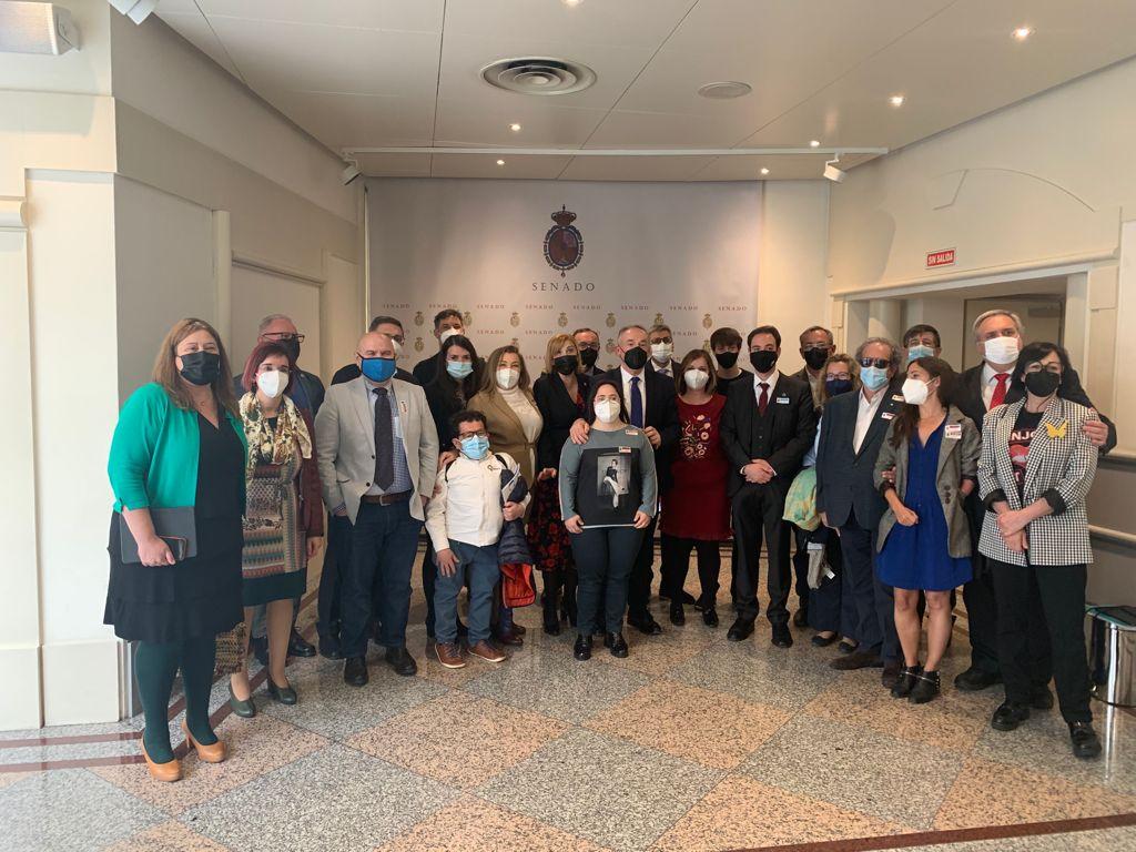 Fotografía de familia de la delegación del CERMIN en el Senado