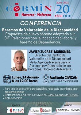 Conferencia: Baremos de valoración de la discapacidad. CERMI NAVARRA