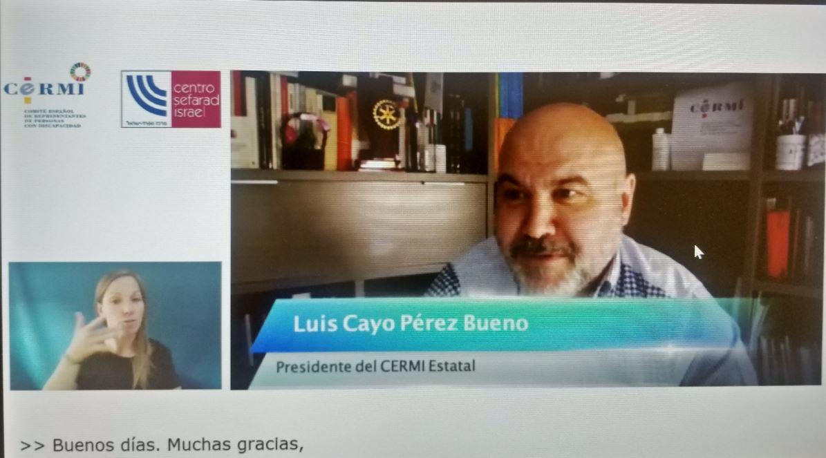 Imagen de un momento de la intervención de Luis Cayo