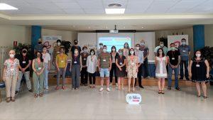 Foto de grupo de los profesionales del Gobierno de Navarra y otras entidades que integran Agoralan