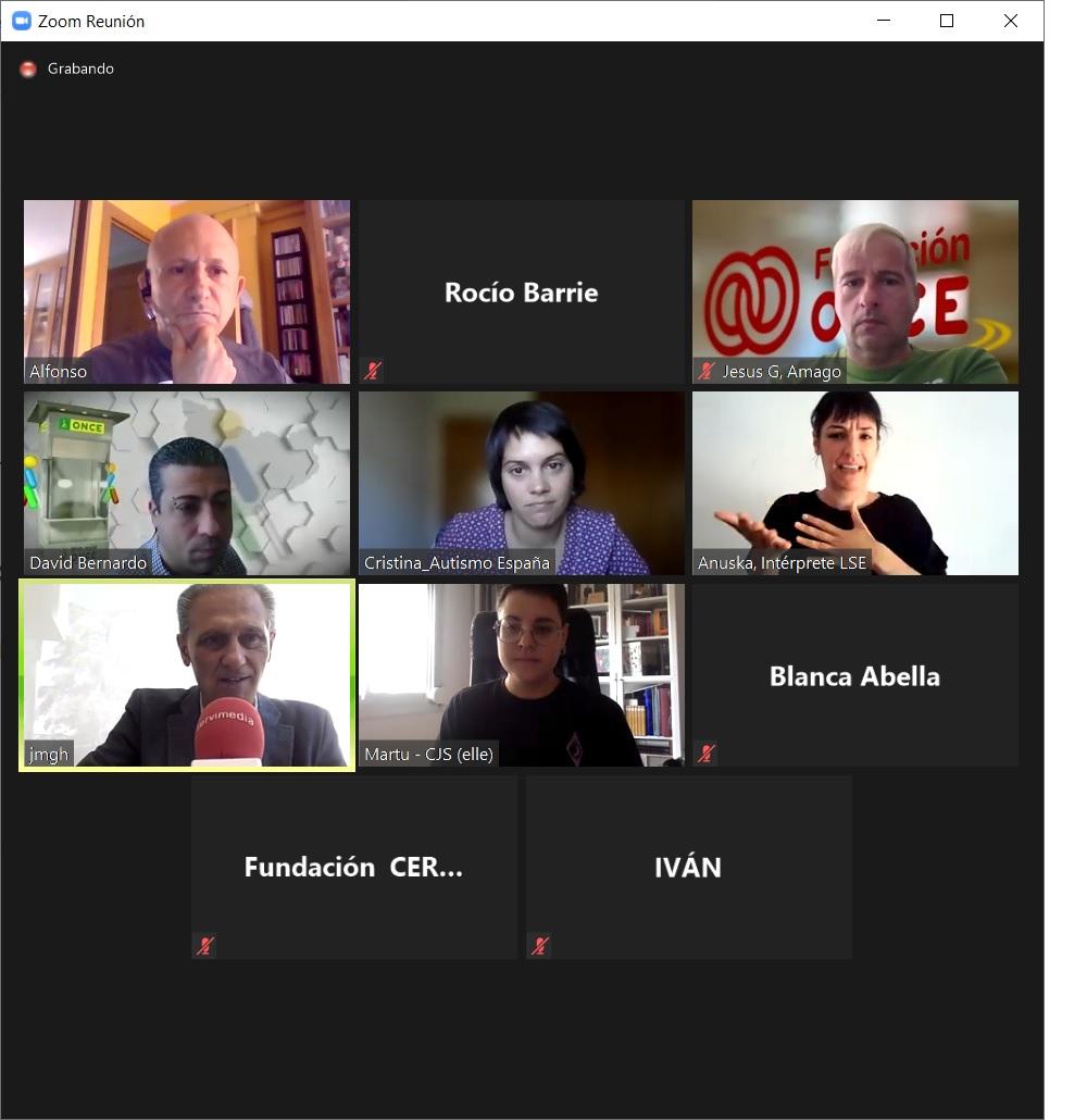 Imagen de un pantallazo del conversatorio