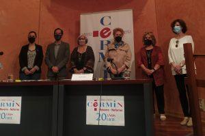 Fotografía de los representantes de CERMIN que han asistido a la rueda de prensa