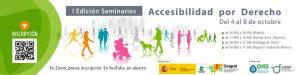 Cartel de los seminarios sobre accesibilidad por derecho