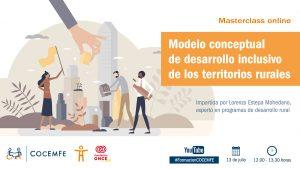 Cartel de la jornada. Modelo conceptual de desarrollo inclusivo de los territorios rurales