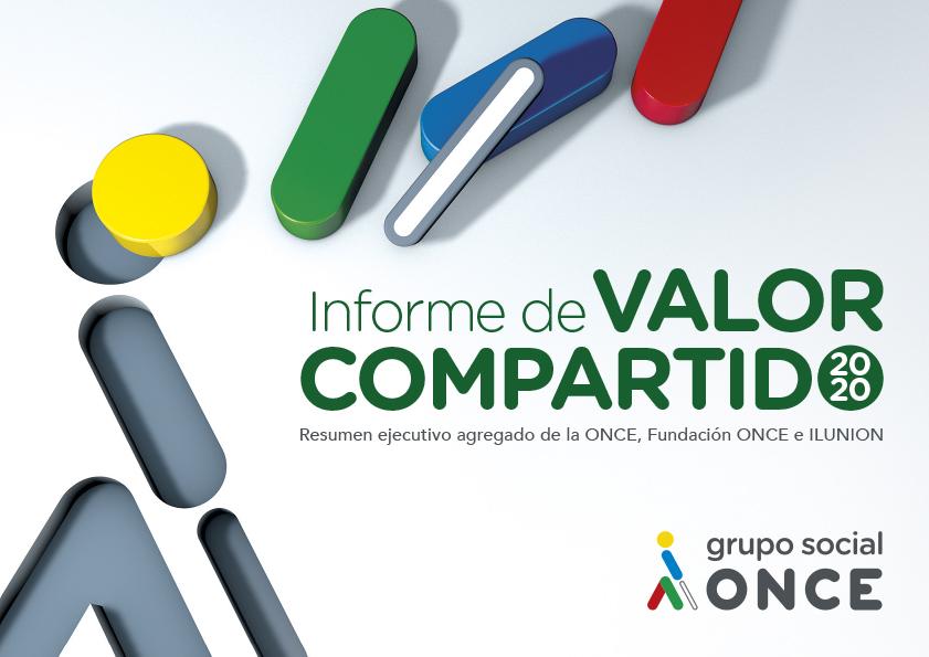 Imagen de la portada del Informe de Valor Compartido del Grupo Social ONCE