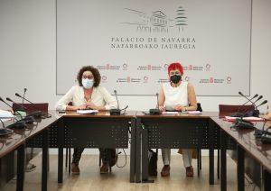 Las consejeras Maeztu e Indurain, durante la reunión