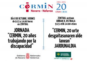 Cartel de la jornada en euskera y castellano